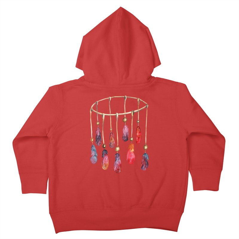 DreamCatcher Feathers Kids Toddler Zip-Up Hoody by IF Creation's Artist Shop