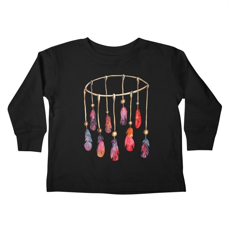 DreamCatcher Feathers Kids Toddler Longsleeve T-Shirt by IF Creation's Artist Shop