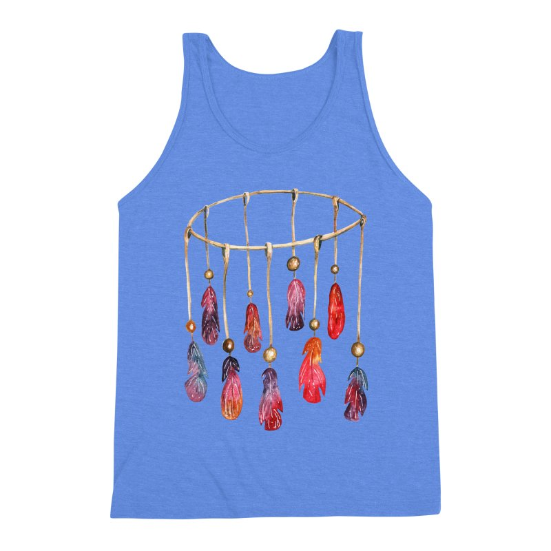 DreamCatcher Feathers Men's Triblend Tank by IF Creation's Artist Shop
