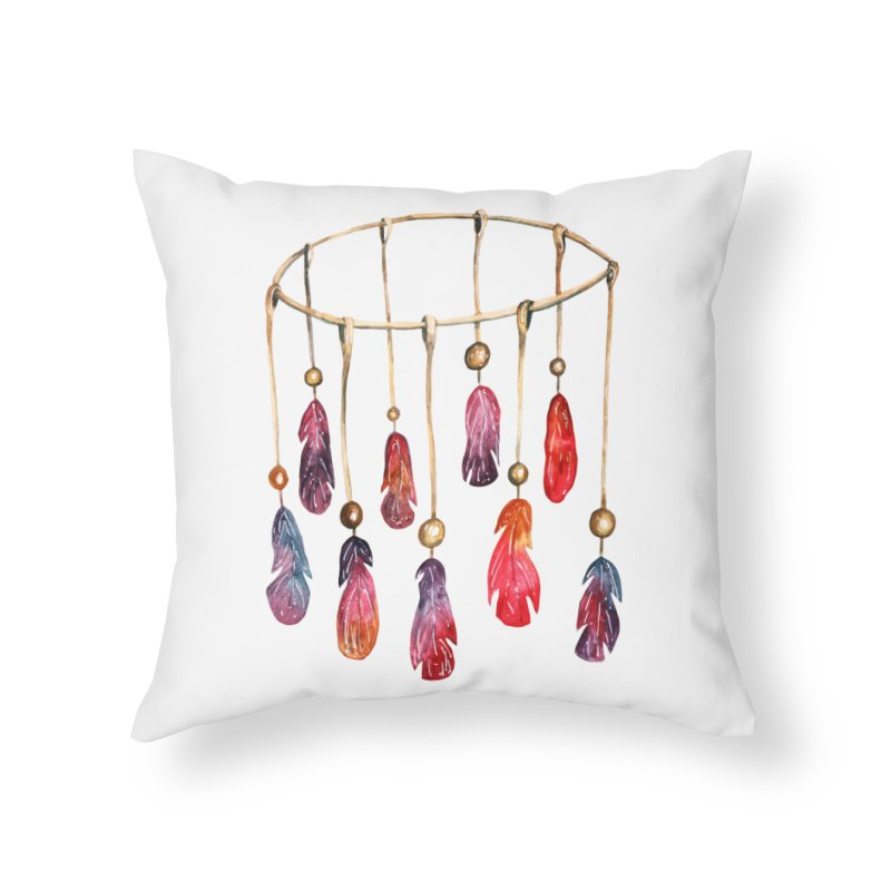 DreamCatcher Feathers Home Throw Pillow by IF Creation's Artist Shop