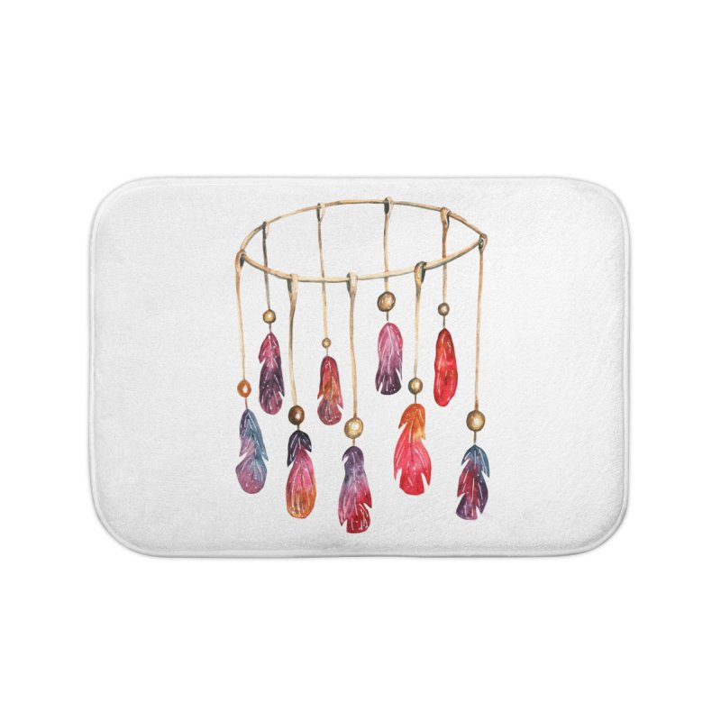 DreamCatcher Feathers Home Bath Mat by IF Creation's Artist Shop