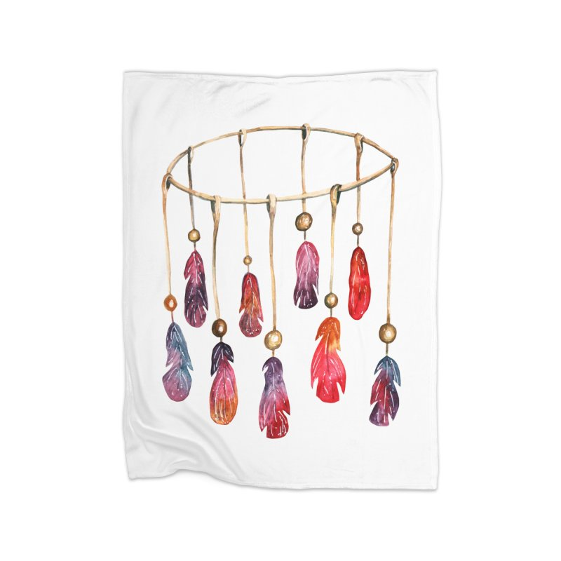 DreamCatcher Feathers Home Blanket by IF Creation's Artist Shop