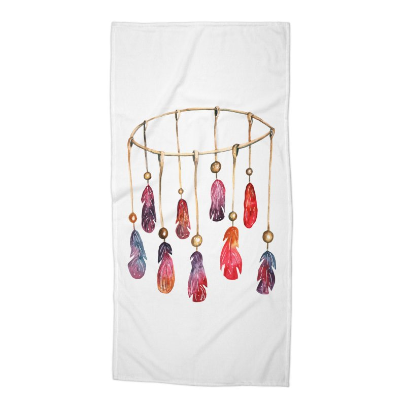 DreamCatcher Feathers Accessories Beach Towel by IF Creation's Artist Shop
