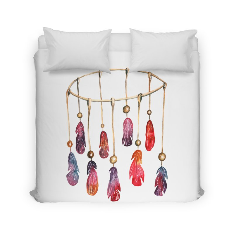DreamCatcher Feathers Home Duvet by IF Creation's Artist Shop