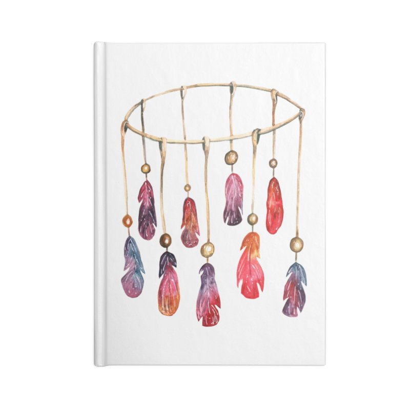 DreamCatcher Feathers Accessories Notebook by IF Creation's Artist Shop