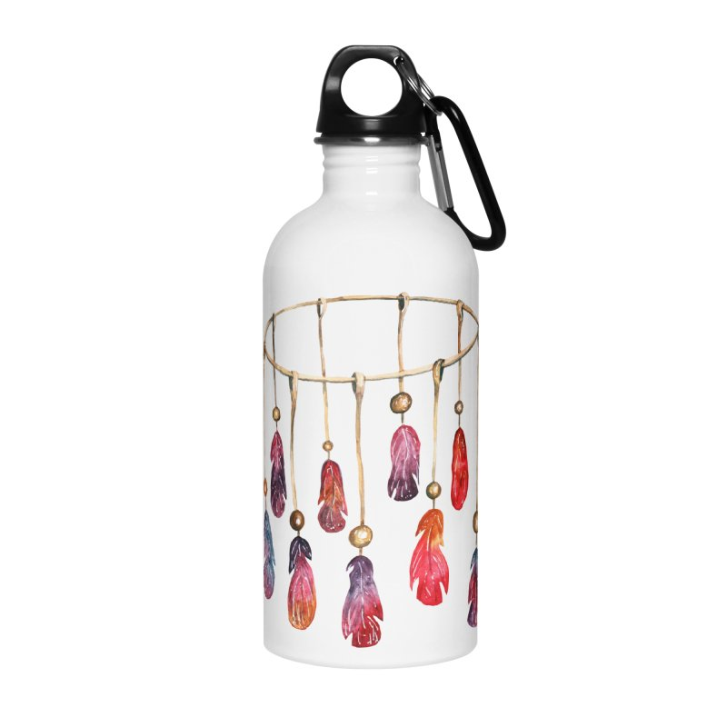 DreamCatcher Feathers Accessories Water Bottle by IF Creation's Artist Shop