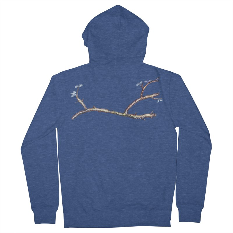 Branches Women's French Terry Zip-Up Hoody by IF Creation's Artist Shop