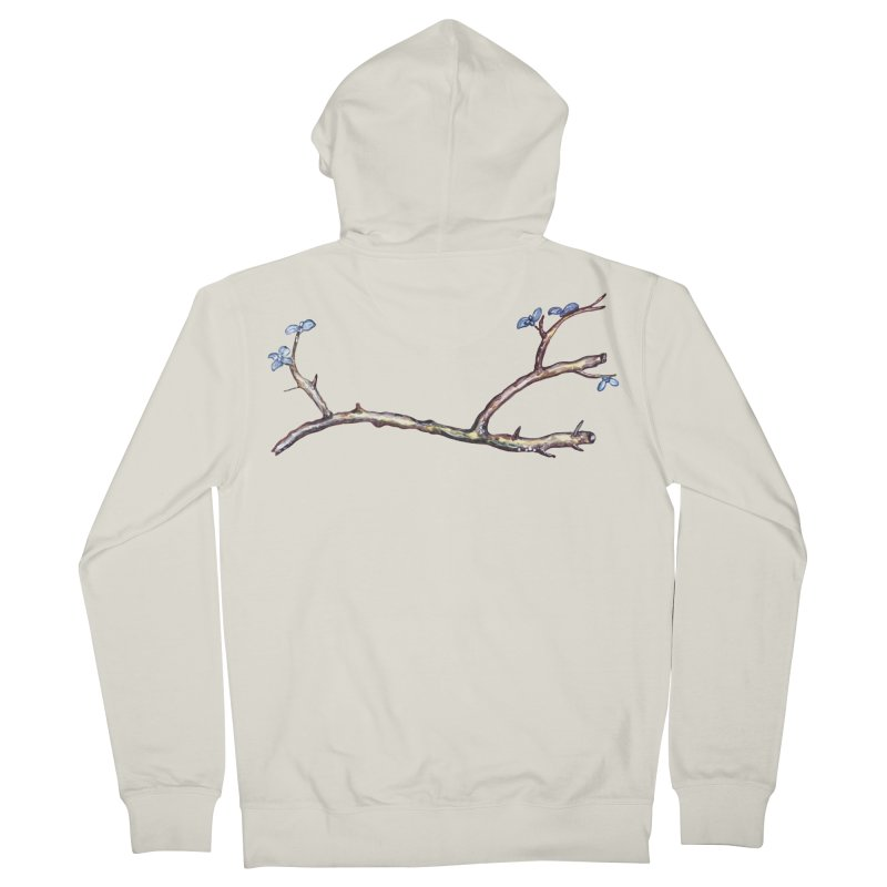 Branches Men's French Terry Zip-Up Hoody by IF Creation's Artist Shop