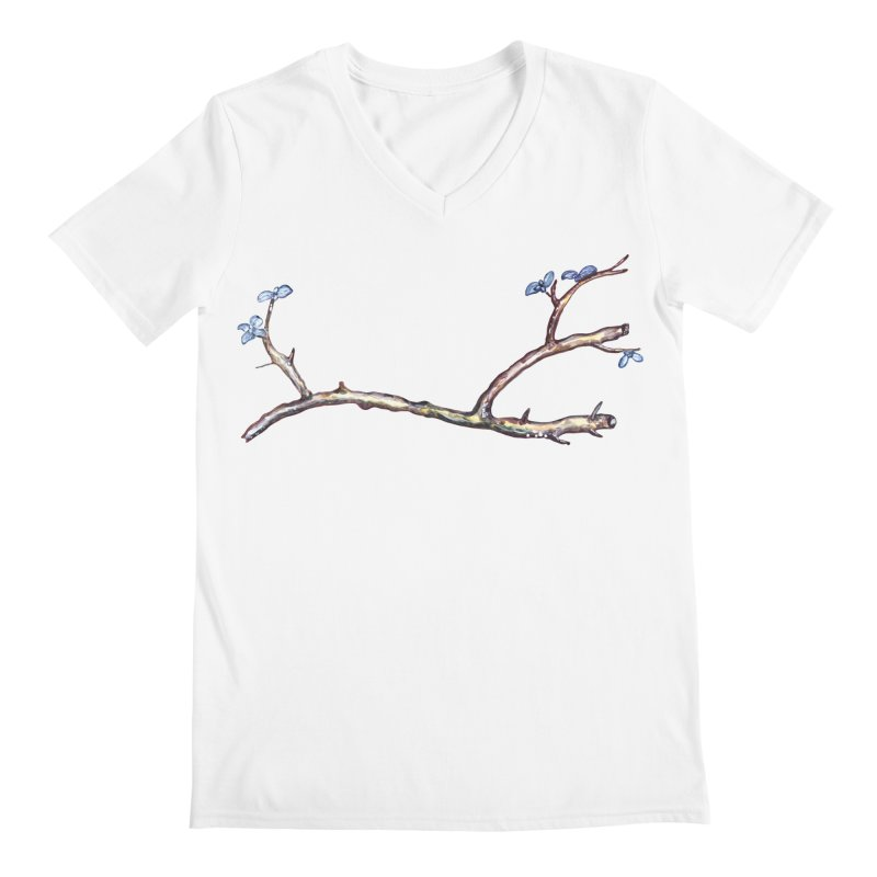 Branches Men's V-Neck by IF Creation's Artist Shop