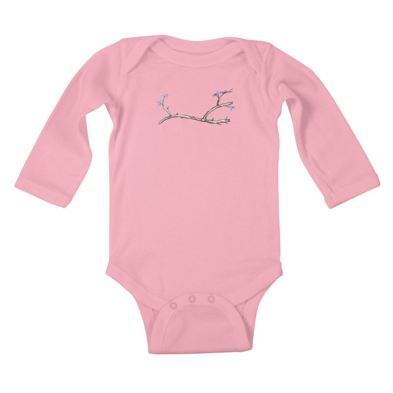 Branches Kids Baby Longsleeve Bodysuit by IF Creation's Artist Shop