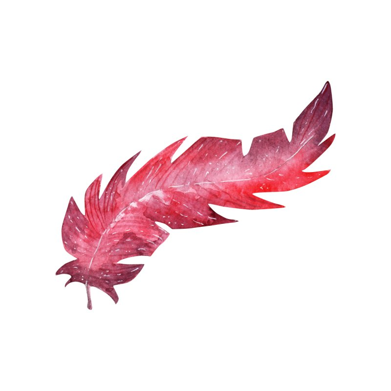 Pink Feather Men's V-Neck by IF Creation's Artist Shop