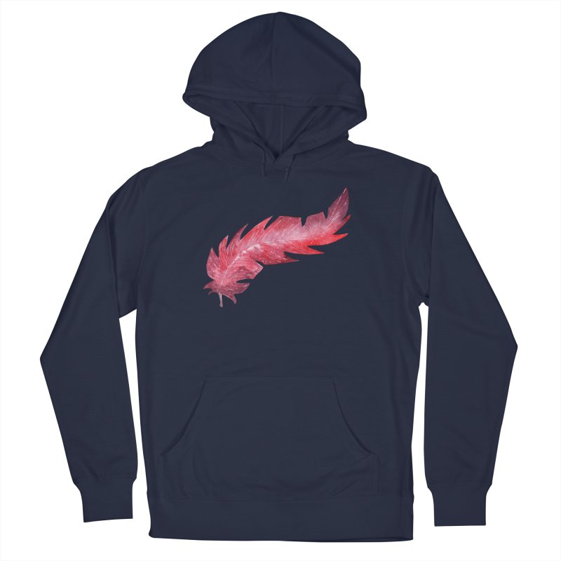 Pink Feather Men's Pullover Hoody by IF Creation's Artist Shop
