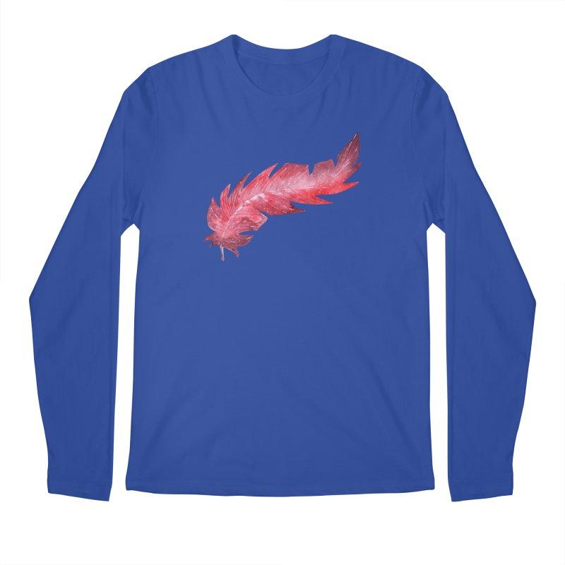 Pink Feather Men's Regular Longsleeve T-Shirt by IF Creation's Artist Shop