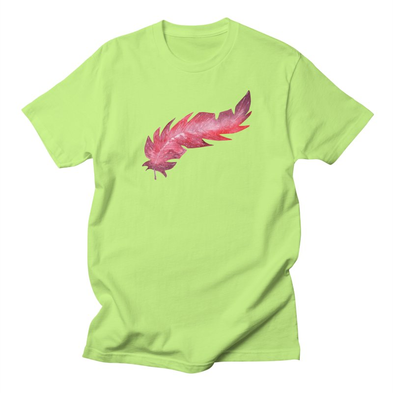 Pink Feather Men's T-Shirt by IF Creation's Artist Shop