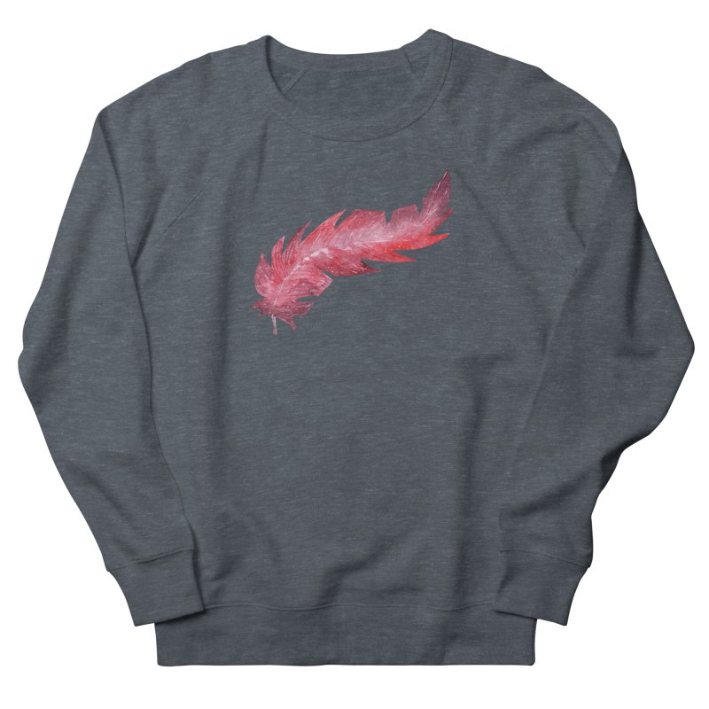 Pink Feather Women's Sweatshirt by IF Creation's Artist Shop
