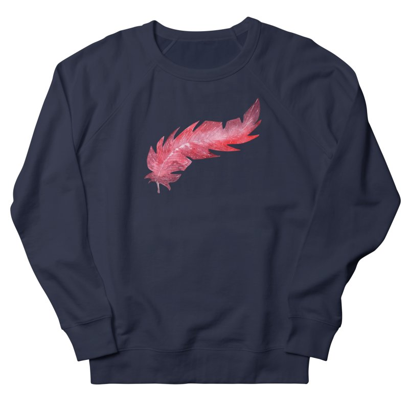 Pink Feather Women's French Terry Sweatshirt by IF Creation's Artist Shop