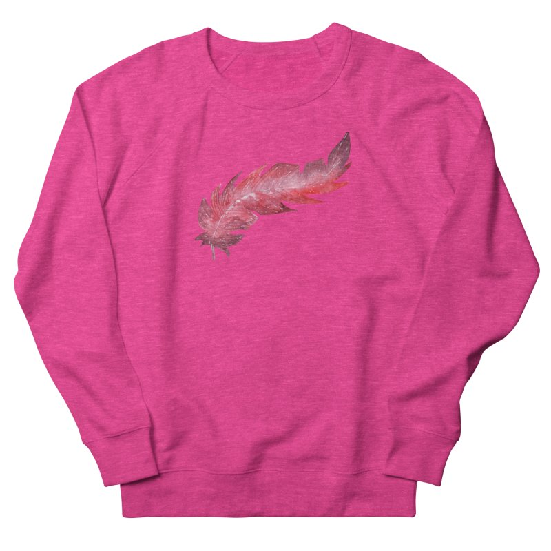 Pink Feather Men's Sweatshirt by IF Creation's Artist Shop