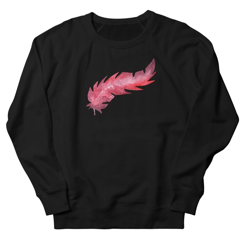 Pink Feather Men's French Terry Sweatshirt by IF Creation's Artist Shop