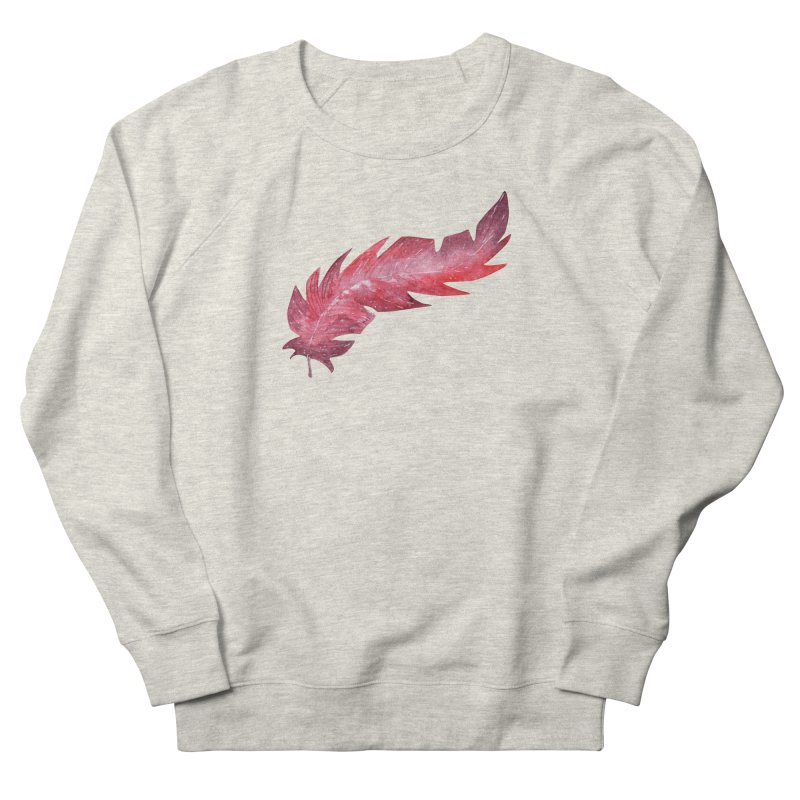 Pink Feather Men's Sweatshirt by IF Creation's Artist Shop