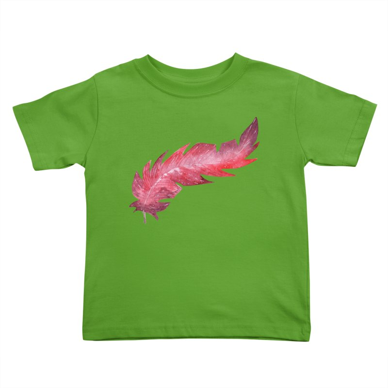 Pink Feather Kids Toddler T-Shirt by IF Creation's Artist Shop