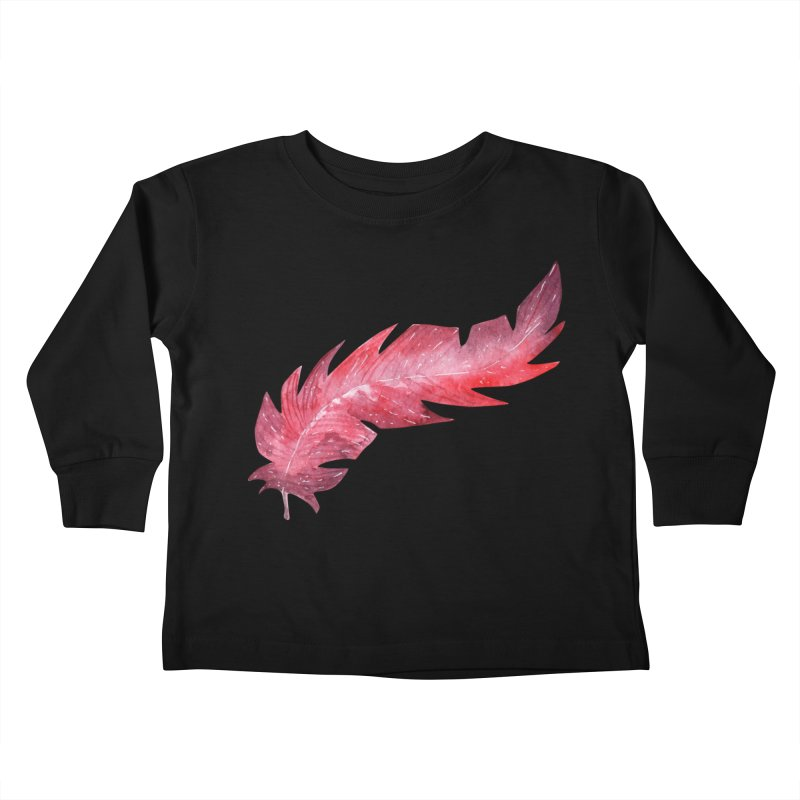 Pink Feather Kids Toddler Longsleeve T-Shirt by IF Creation's Artist Shop