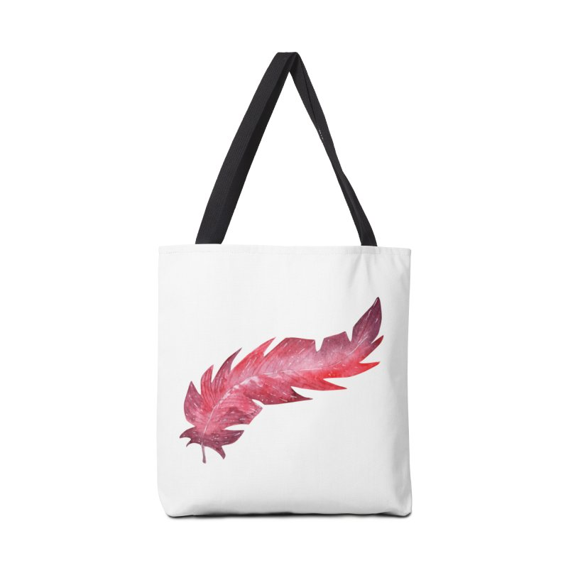 Pink Feather Accessories Bag by IF Creation's Artist Shop