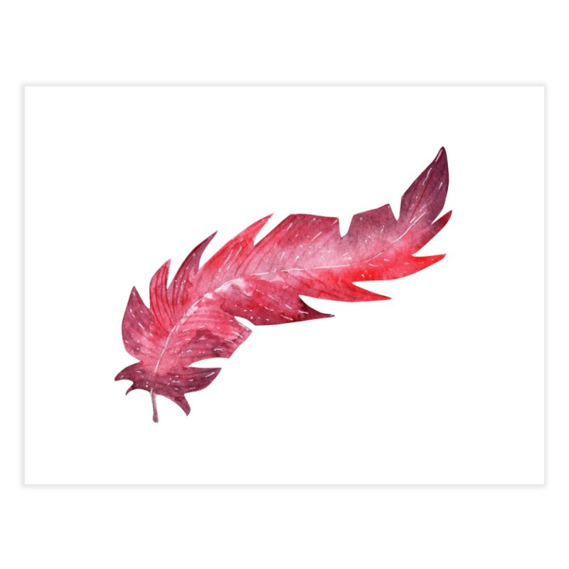 Pink Feather Home Fine Art Print by IF Creation's Artist Shop