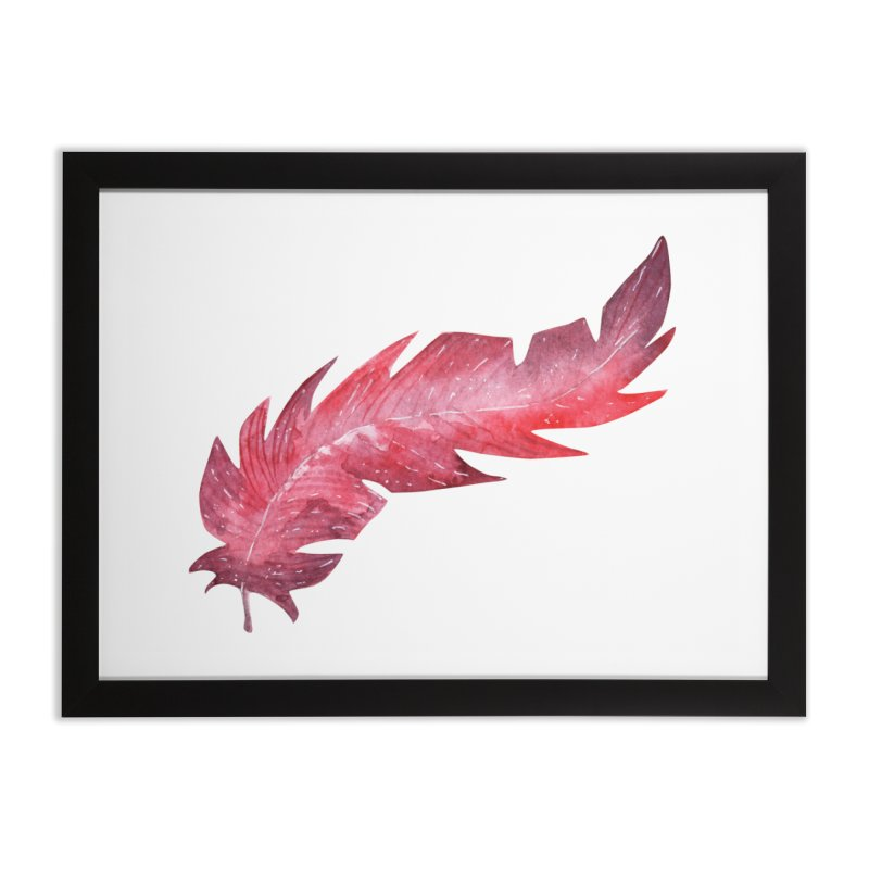 Pink Feather Home Framed Fine Art Print by IF Creation's Artist Shop