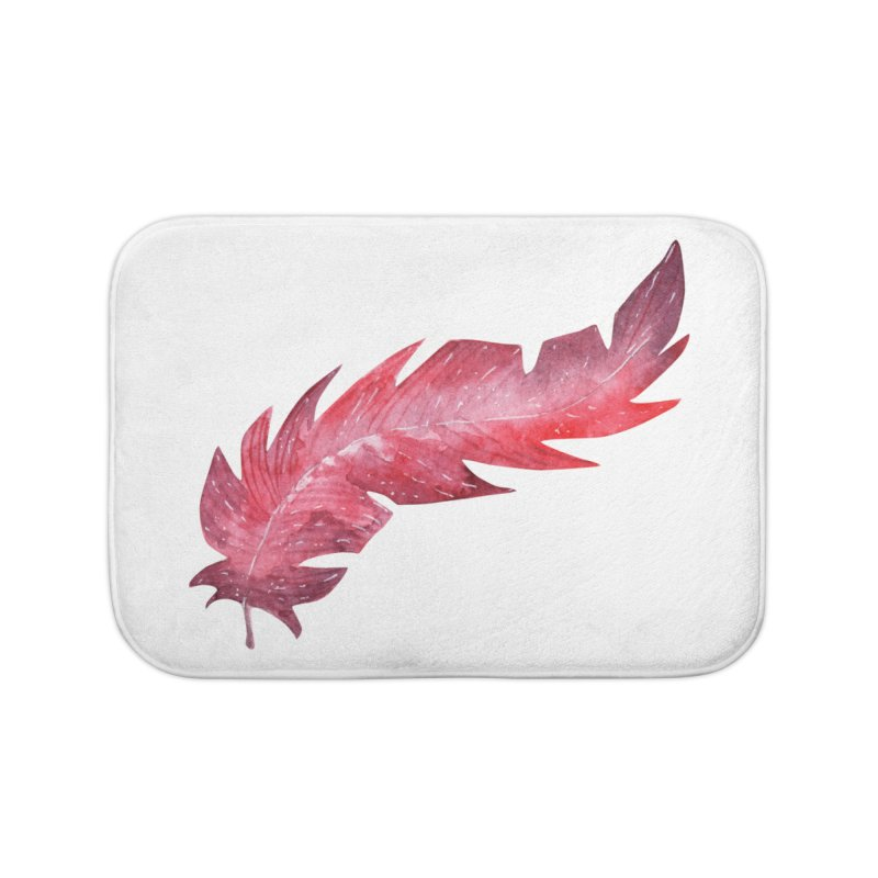 Pink Feather Home Bath Mat by IF Creation's Artist Shop