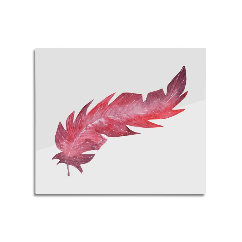 Pink Feather Home Mounted Aluminum Print by IF Creation's Artist Shop