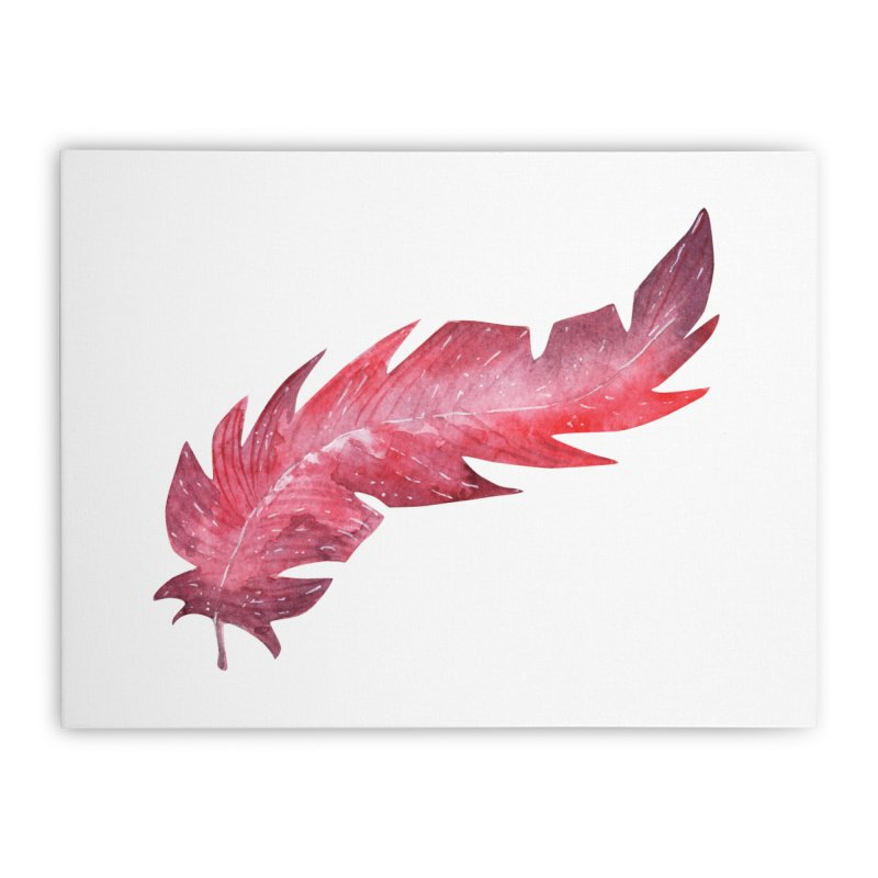 Pink Feather Home Stretched Canvas by IF Creation's Artist Shop