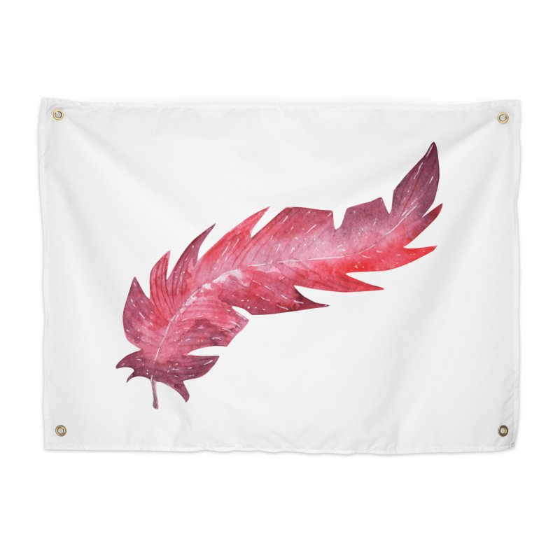 Pink Feather Home Tapestry by IF Creation's Artist Shop