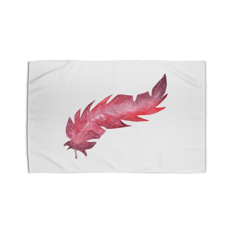 Pink Feather Home Rug by IF Creation's Artist Shop