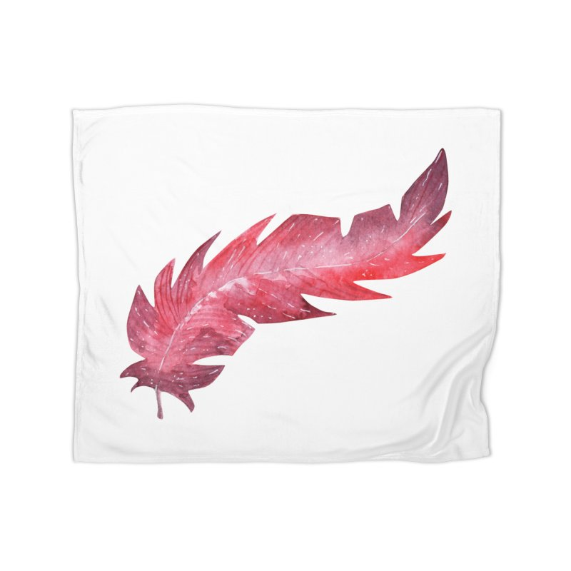 Pink Feather in Fleece Blanket Blanket by IF Creation's Artist Shop