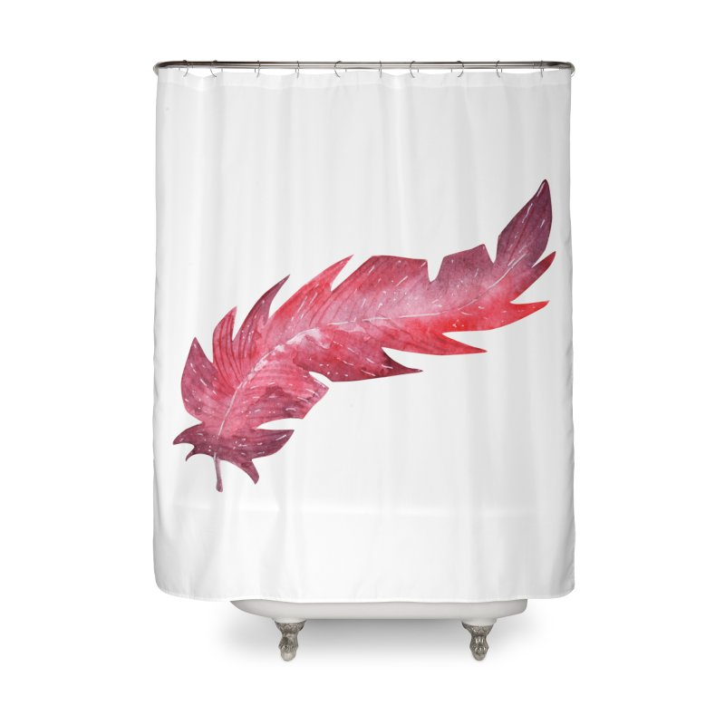 Pink Feather Home Shower Curtain by IF Creation's Artist Shop