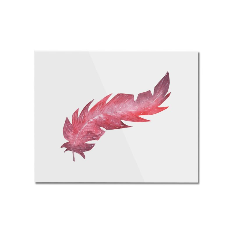 Pink Feather Home Mounted Acrylic Print by IF Creation's Artist Shop