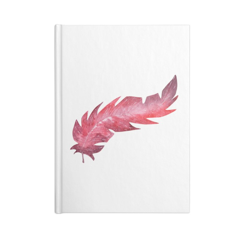 Pink Feather Accessories Blank Journal Notebook by IF Creation's Artist Shop