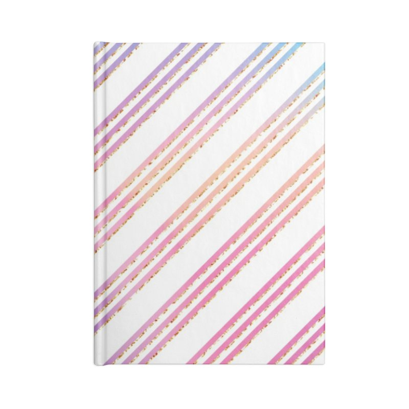 Pastel Stripes Accessories Blank Journal Notebook by IF Creation's Artist Shop