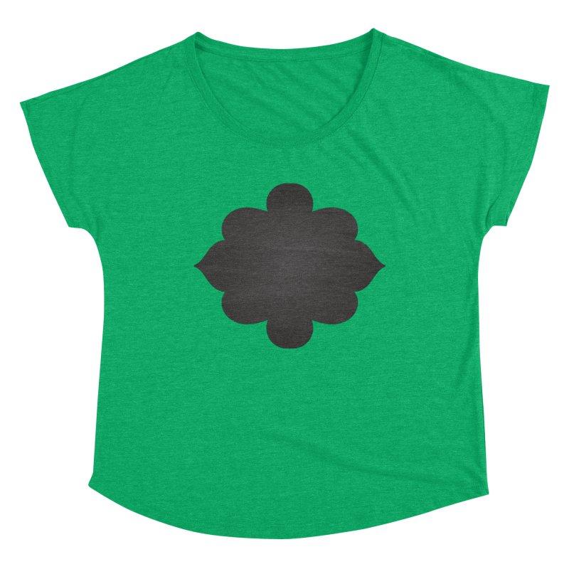 Black Shape Label Women's Scoop Neck by IF Creation's Artist Shop