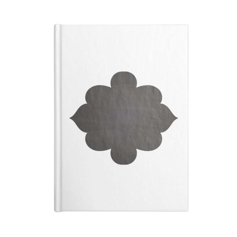 Black Shape Label Accessories Blank Journal Notebook by IF Creation's Artist Shop
