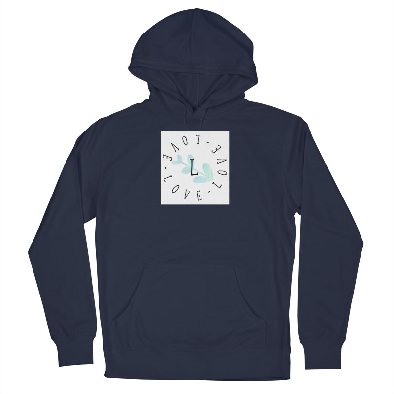 Love-Love-Love Women's French Terry Pullover Hoody by IF Creation's Artist Shop