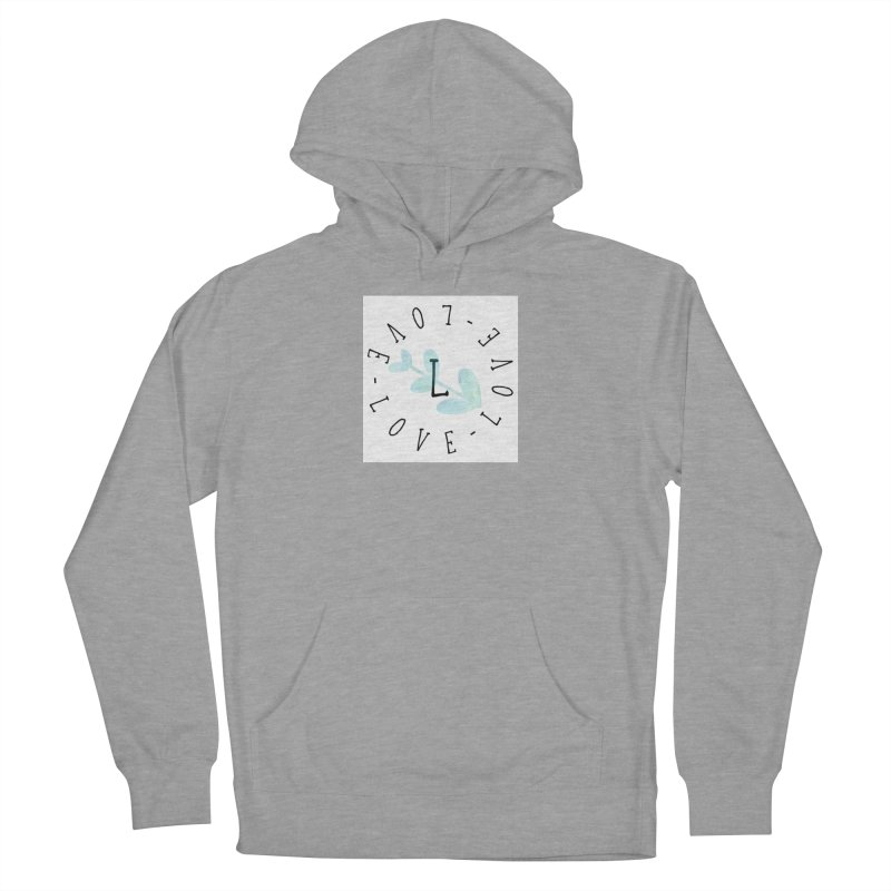 Love-Love-Love Men's French Terry Pullover Hoody by IF Creation's Artist Shop