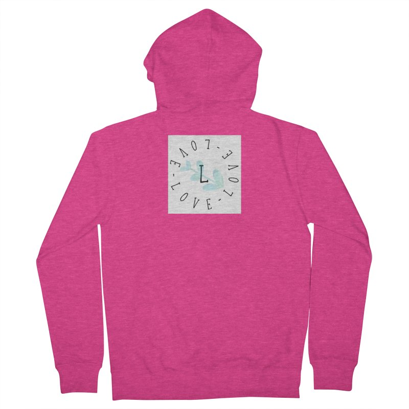 Love-Love-Love Women's Zip-Up Hoody by IF Creation's Artist Shop