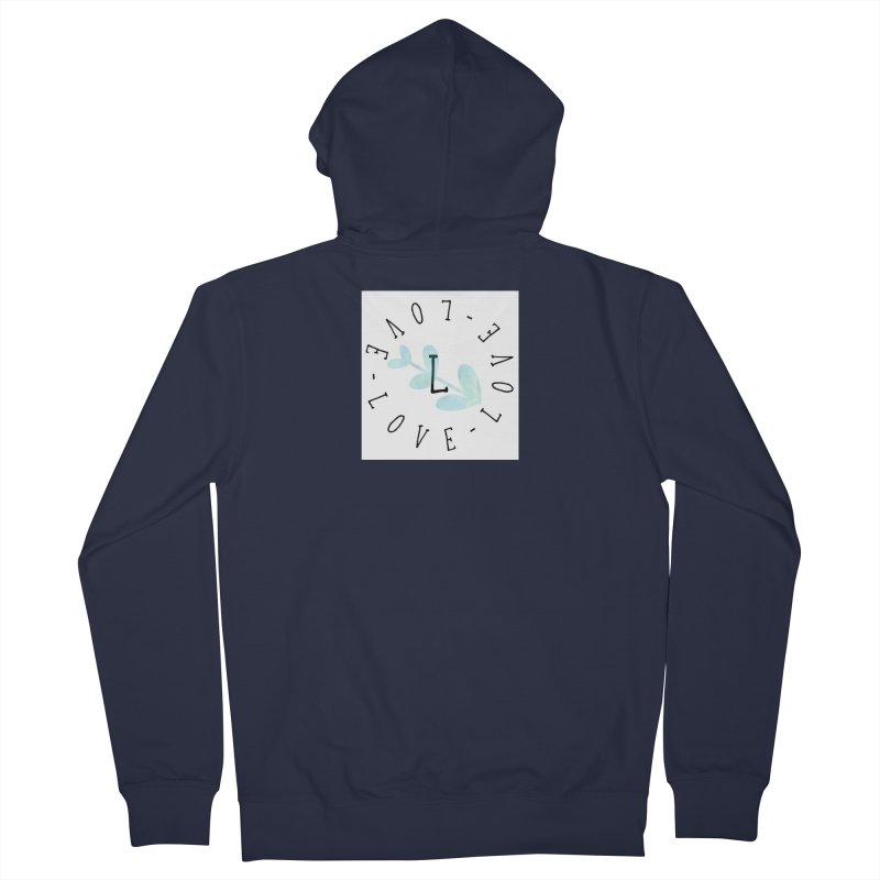Love-Love-Love Women's French Terry Zip-Up Hoody by IF Creation's Artist Shop