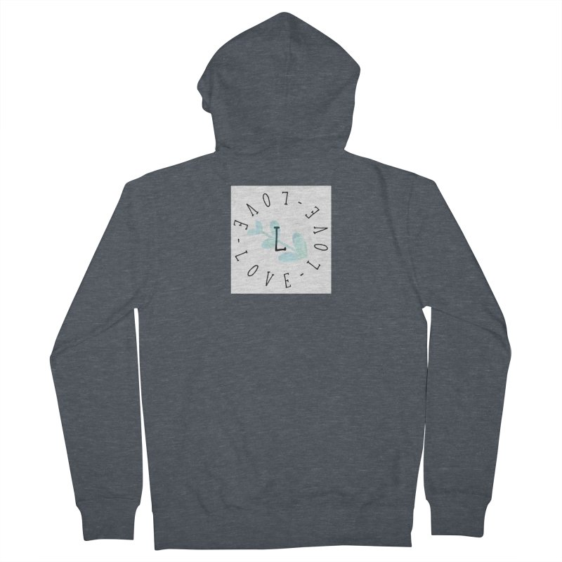 Love-Love-Love Men's Zip-Up Hoody by IF Creation's Artist Shop