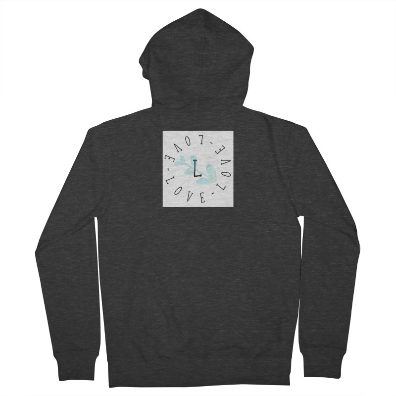 Love-Love-Love Men's French Terry Zip-Up Hoody by IF Creation's Artist Shop
