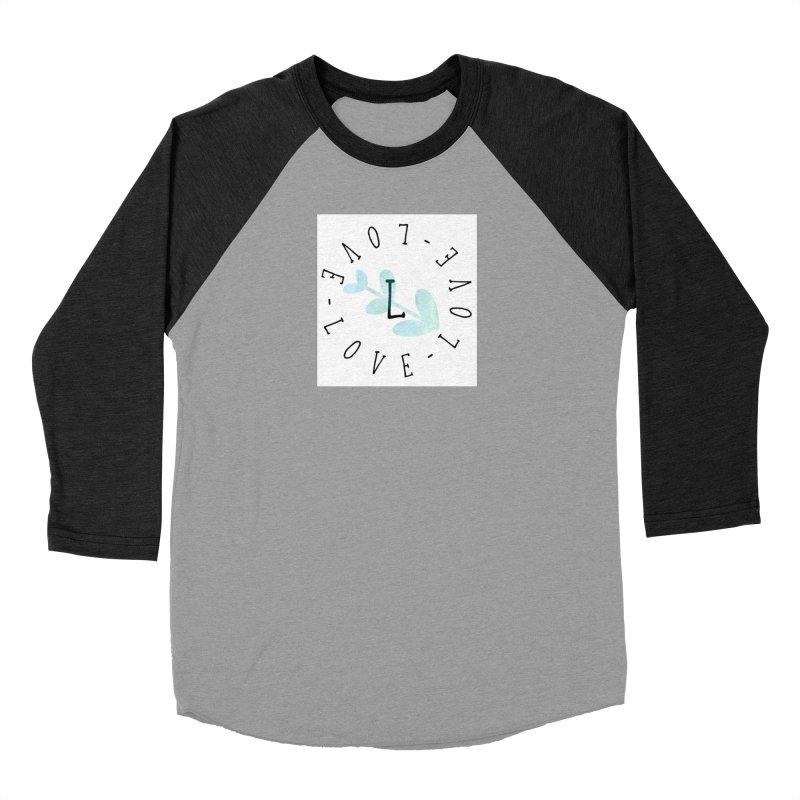 Love-Love-Love Men's Baseball Triblend T-Shirt by IF Creation's Artist Shop