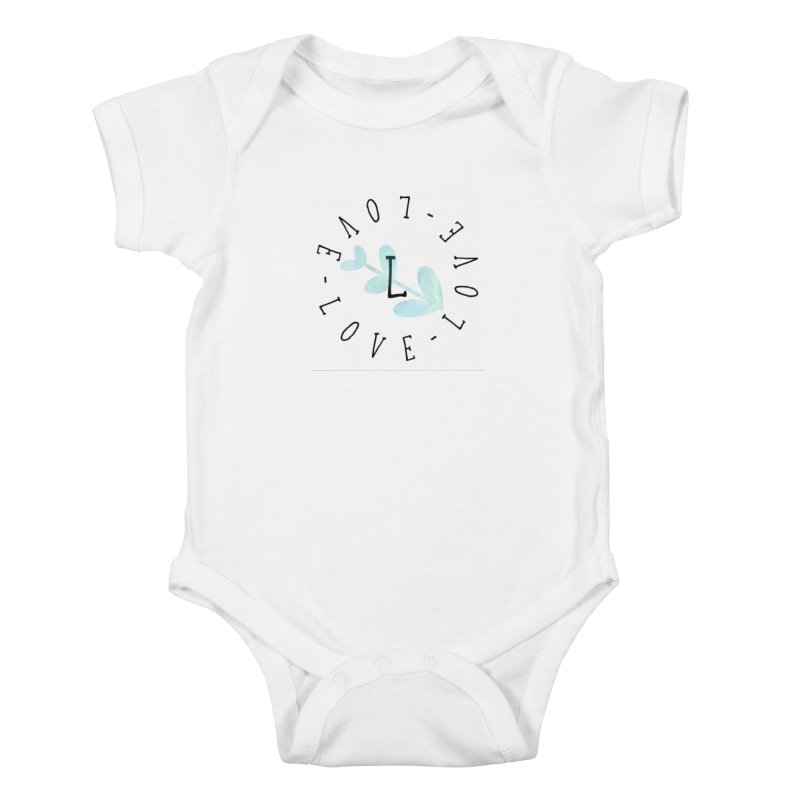 Love-Love-Love Kids Baby Bodysuit by IF Creation's Artist Shop