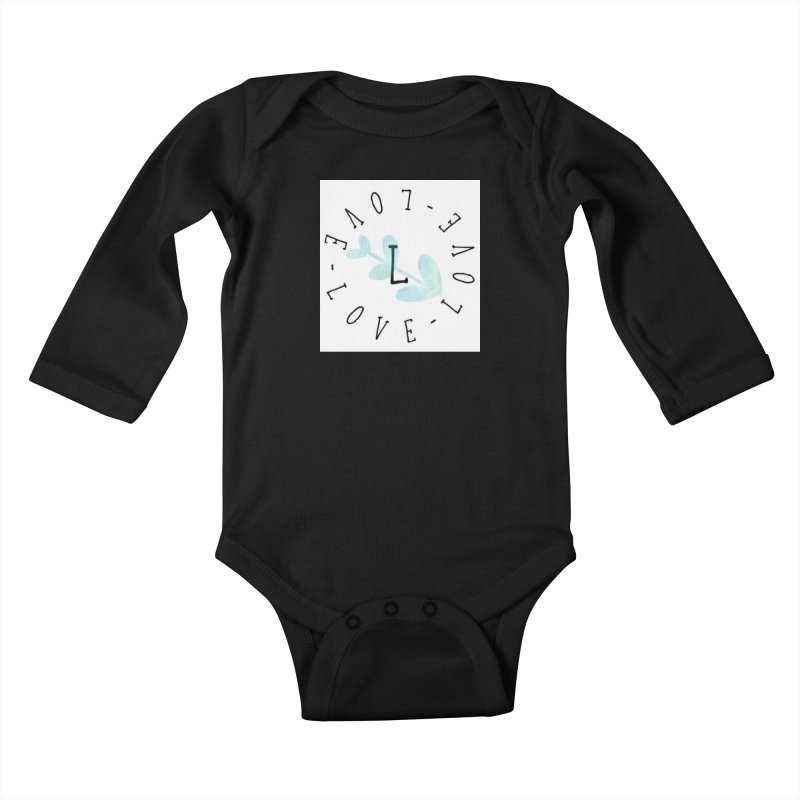 Love-Love-Love Kids Baby Longsleeve Bodysuit by IF Creation's Artist Shop