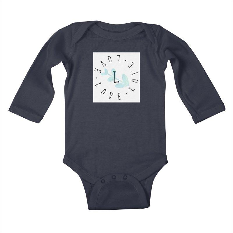 Love-Love-Love Kids Baby Longsleeve Bodysuit by IF Creation's Artist Shop